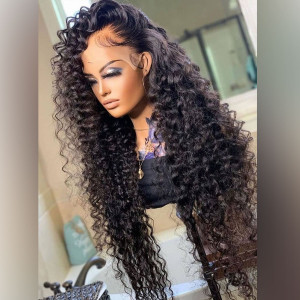 Let's Get Into This Look! Absolutely Love The Way These Curls Came Out! Virgin Human Hair 13x6 Lace Front Wigs Pre Plucked  (w763)