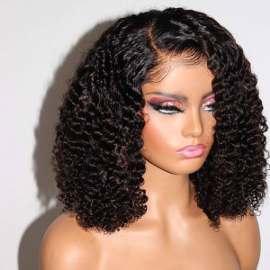 Beautiful Kinky Curly Wig Split Payments Available!! 12A Grade Virgin Human Hair 13x6 Lace Front Wigs Pre Plucked  (w751)