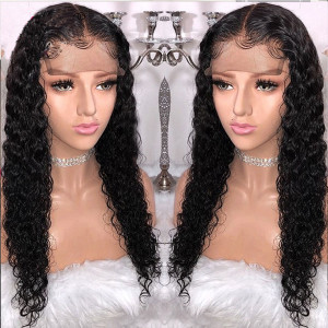 Elva Hair 130 density Curly Brazilian Full Lace Human Hair Wigs With Baby Hair Pre Plucked 018
