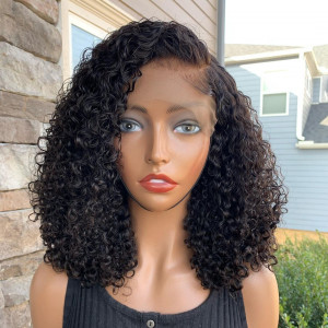 Can't Ever Go Wrong With Some Cute Crimpsss! Yes or No? Virgin Human Hair 13x6 Lace Front Wigs Pre Plucked  (w762)