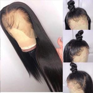 Glueless 13x4 Lace Wigs Straight Brazilian Virgin Human Hair Pre Plucked Hairline (w179)