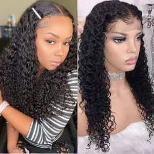 Elva Hair 150 Density 13x6 Pre Plucked Lace Front Wigs Brazilian Curly Human Hair Wigs(w54)