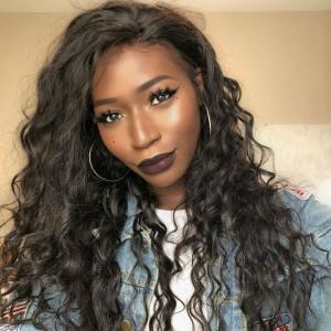 Elva Hair 150% Density Brazilian Hair Wavy 360 Lace Frontal Wigs (Y112)