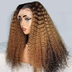 Yonce Wig Glueless 13x6 Lace Wigs Curly Brazilian Virgin Human Hair (w390)