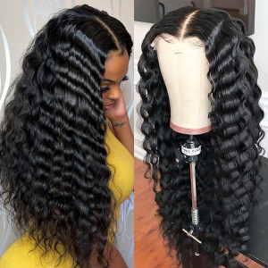 Elva Hair 180% Density Brazilian Hair Wavy 360 Lace Frontal Wigs (Y119)