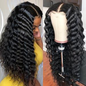 Elva Hair 150% Density Brazilian Hair Wavy 360 Lace Frontal Wigs (Y119)