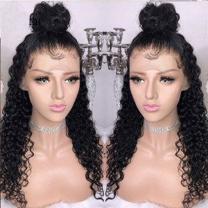 Elva Hair 130% Density Brazilian Hair Wavy Full Lace Wigs (Y120)