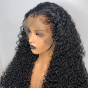 Elva Hair 150% Density Brazilian Hair Kinky Curly Full Lace Wigs (Y129)