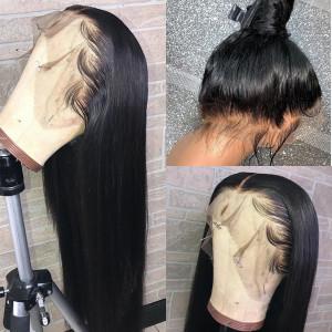 Elva Hair 250% Density Brazilian Hair Straight Hair 360 Lace Frontal Wigs (Y131)