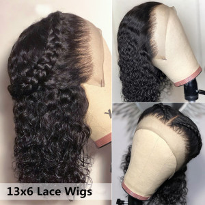 Elva Hair 130 density 13X4 Brazilian Lace Front Wig Curly Human Hair Wigs With Baby Hair (026)