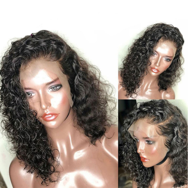 13x6 Lace Front Human Hair Wigs With Baby Hair Curly Hair