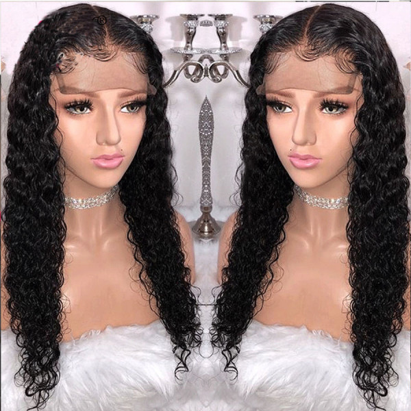 150 Density 13x6 Brazilian Curly Lace Front Wigs Pre Plucked W53