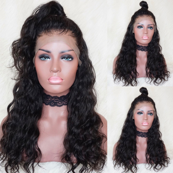 Natural Wave 13x6 Lace Front Human Hair Wigs With Baby Hair Glueless Lace Wigs Pre Plucked Hairline Brazilian Remy Hair 150 Density Y24