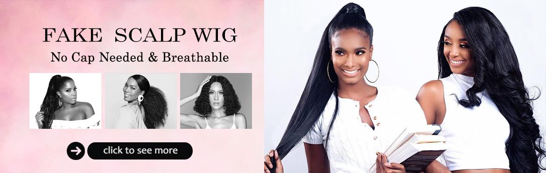 fake scalp wig